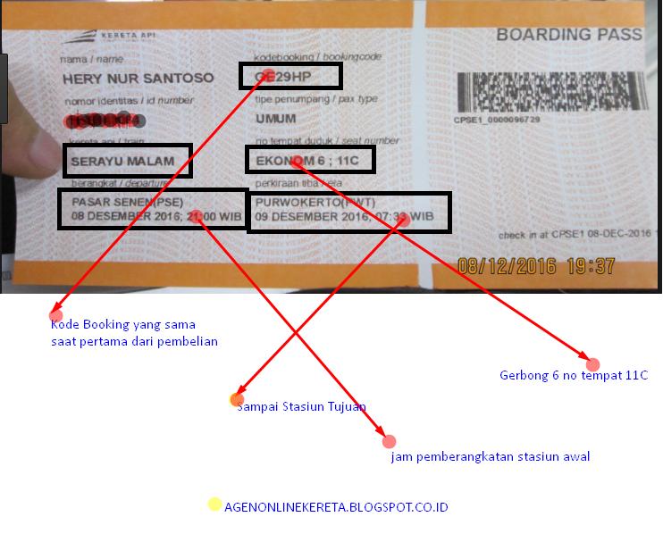 Cara Membaca Ticket Kereta Api A Sampai Z Informasi Seputar Kereta Api