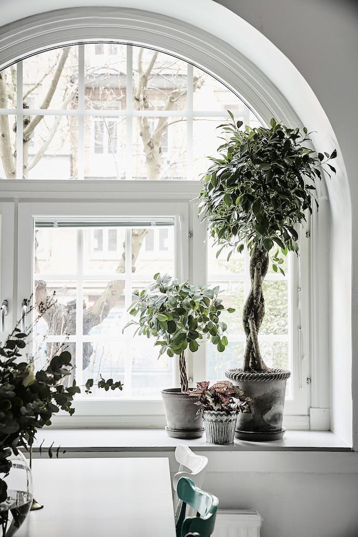 Arch Window Decoration Of Decordemon Aschebergsgatan 27 Grey White Swedish Apartment