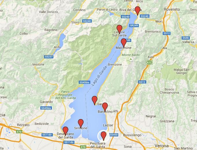 Mapa Mapa Lago Di Garda