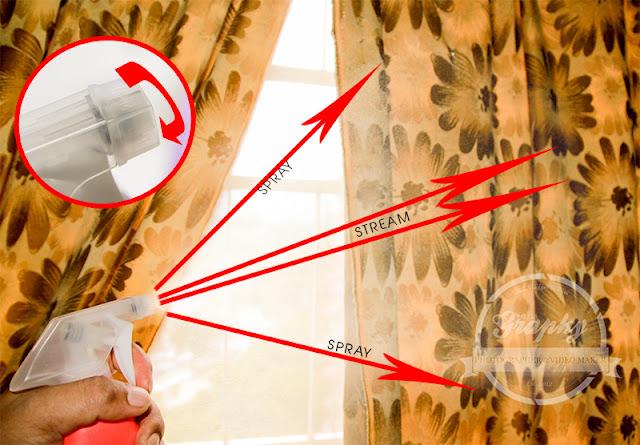 Cara Menggunakan D'MENC FABRIK WANGI dengan memutarkan Nozzle