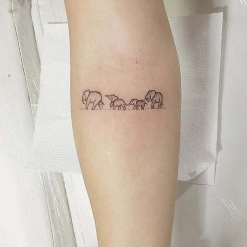 küçük sevimli fil dövmeleri small cute elephant tattoo