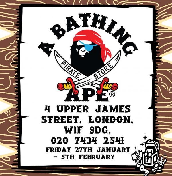 3268a1af0156 London Pop-ups  BAPE Pirate Pop-up Store in Soho