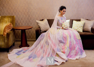 design baju nikah anzalna nasir princess