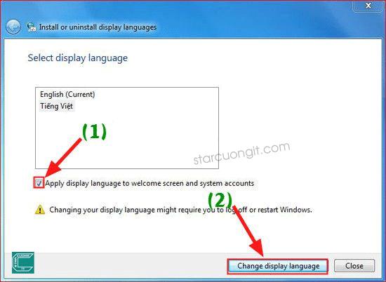 Hướng dẩn cài tiếng Việt cho Windows 7, 8, 8.1 đơn giản