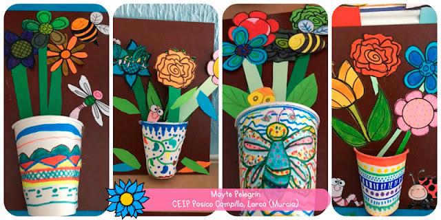 Mural de la primavera de la teacher Mayte Pelegrín