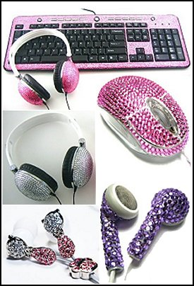 Crystal Rhinestone  USB Keyboards Gift ideas - fun novelty gift shopping ideas - gift ideas - slippers - sleep wear - personalized gifts - cool stuff to buy