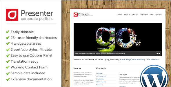 Presenter WP Wordpress Theme Free Download.