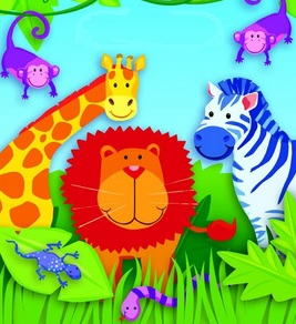 Dibujo alusivo a la canción Fiesta en el Zoológico