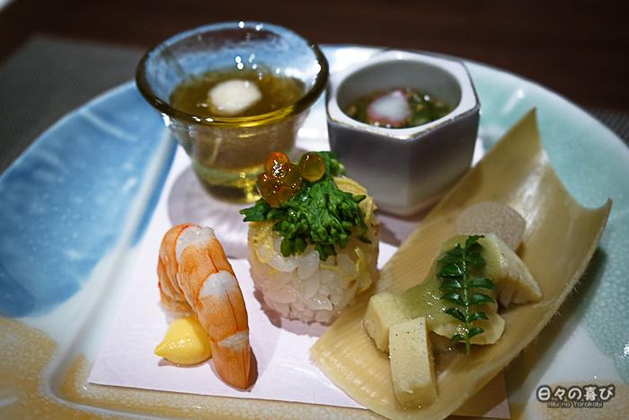 hors-d'oeuvres, menu kaiseki, Hakone Pax Yoshino