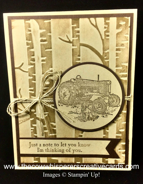 Card, Heartland, Tractor, Masculine,  Woodland Embossing Folder,