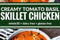 CREAMY TOMATO BASIL SKILLET CHICKEN