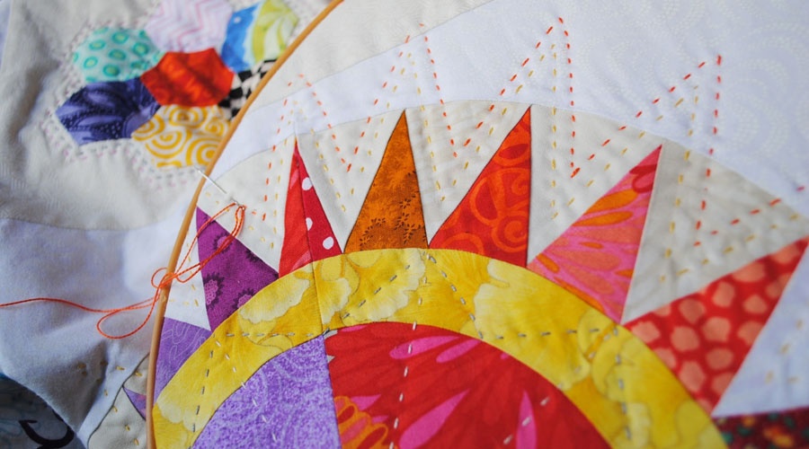 Modern Hand Quilting Patterns : Kathy s Quilts: Slow Sunday Stitching