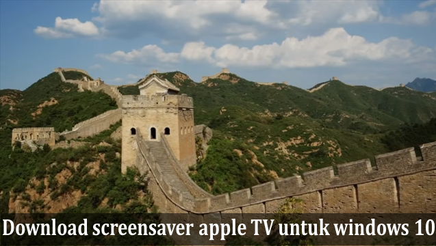 Download Screensaver apple TV untuk Windows 10