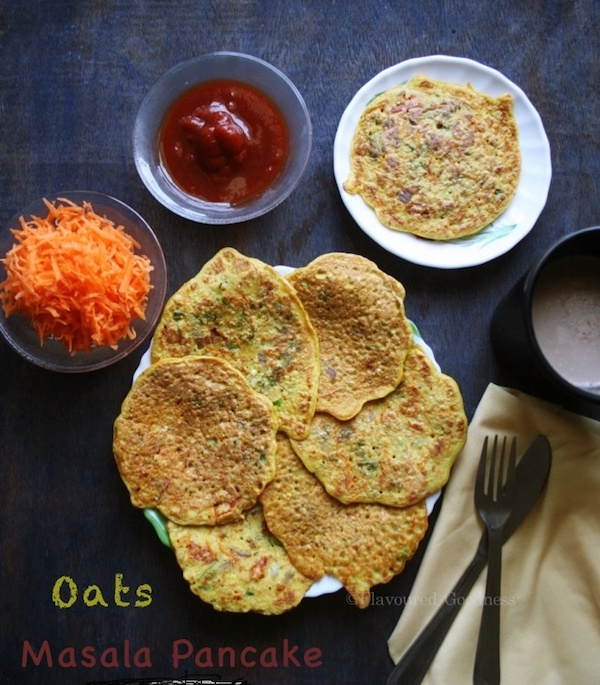 how to make Oats Masala Pancake