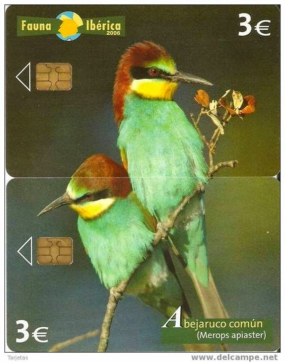 Tarjeta telefónica Abejaruco común (Merops apiaster)