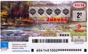 Lotería Nacional del jueves 22 de mayo de 2014