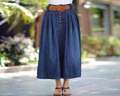 Model Rok Panjang Denim