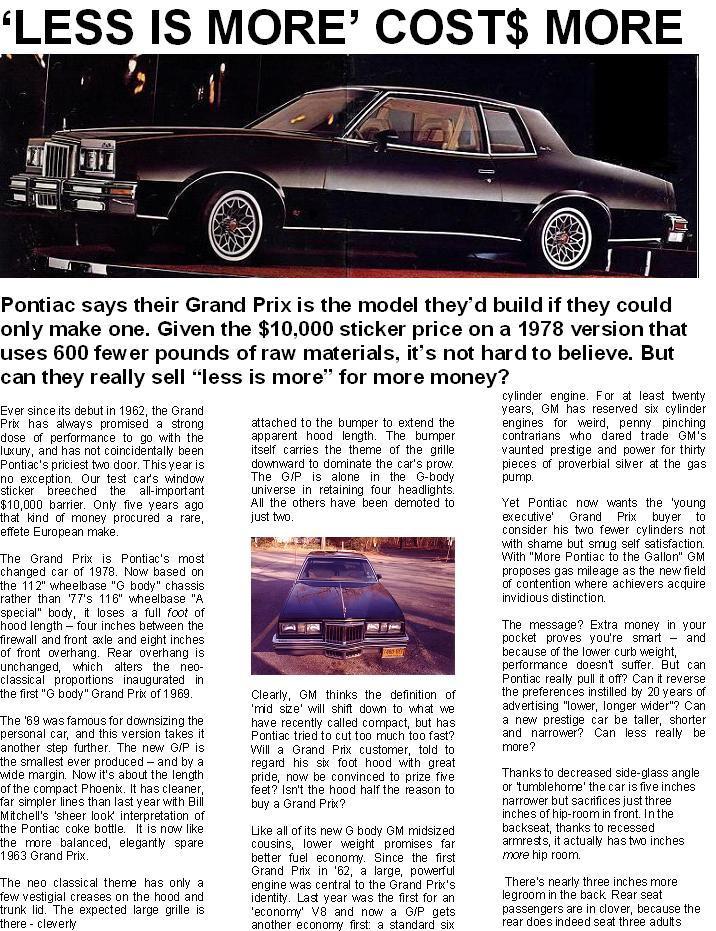 1978 Pontiac Grand Prix : pontiac, grand, Grand, Inside, Forum