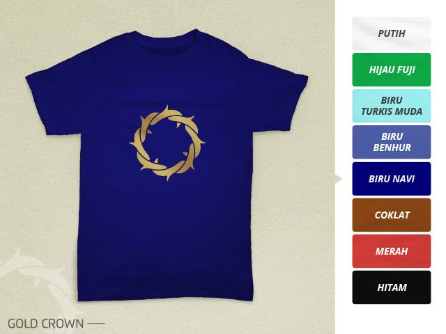 Preview desain kaos rohani mahkota duri emas di warna hitam