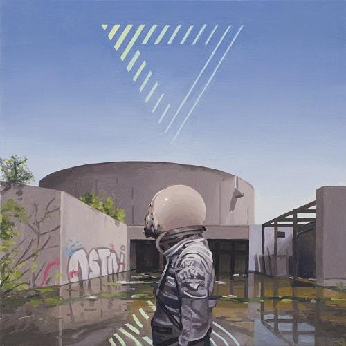 """Triangle"" - Scott Listfield | imagenes de arte bellas, pinturas tristes nostalgicas, cuadros, astronautas, sad art pictures, cool stuff"