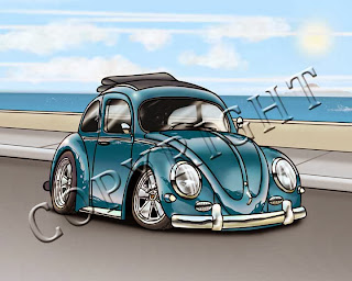 "VW Bug - Art Print (8""x10"" or 5""x7"")"