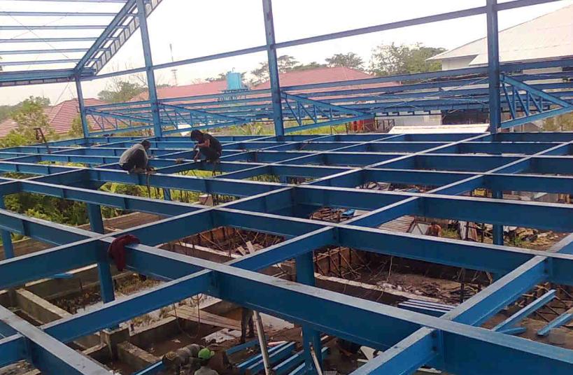 Konstruksi Baja Wf Untuk Gudang 2 Lantai