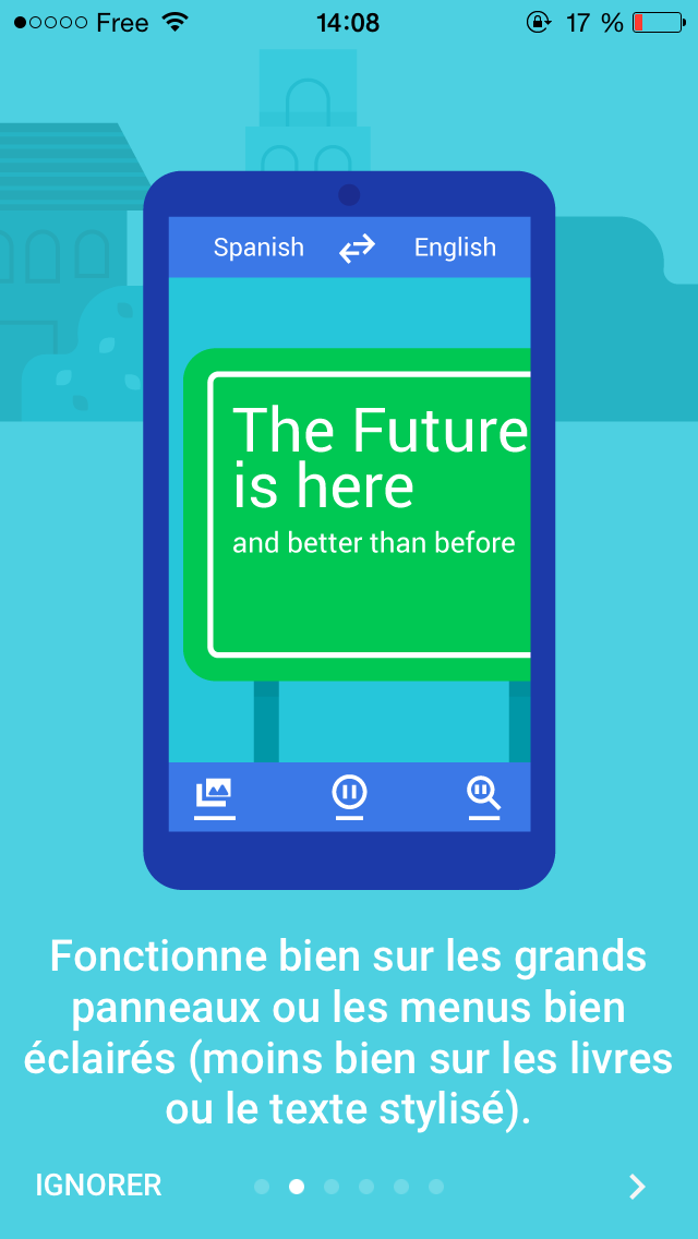 google traduction application esteban