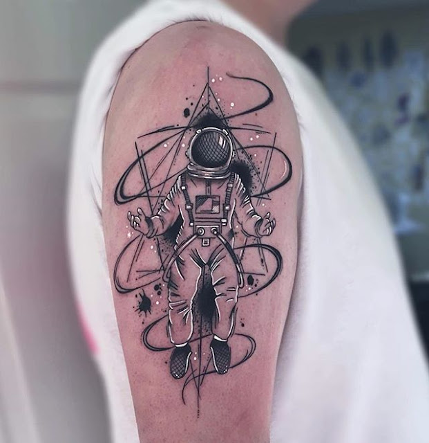 astronaut tattoo sleeve