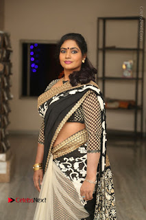 Telugu Actress Jayavani Jayavani Stills in Black Saree at Intlo Deyyam Nakem Bhayam Success Meet  0020.JPG