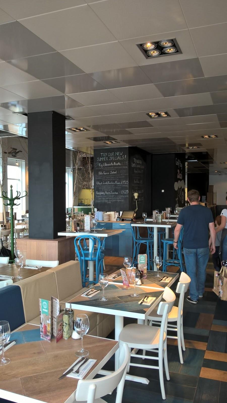 Zizzi Cardiff Bay restaurant interior