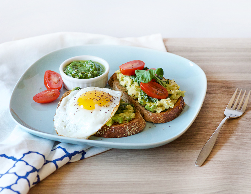Avocado Toast with Pesto and Egg | Obsessive Cooking Disorder