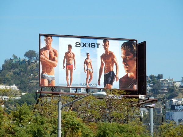 2Xist mens underwear billboard