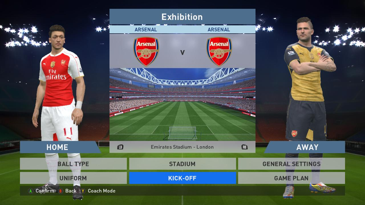 bed295ecba5 PES 2016 Arsenal Kits Update Season 2015-2016 With WC Badge - PATCH ...