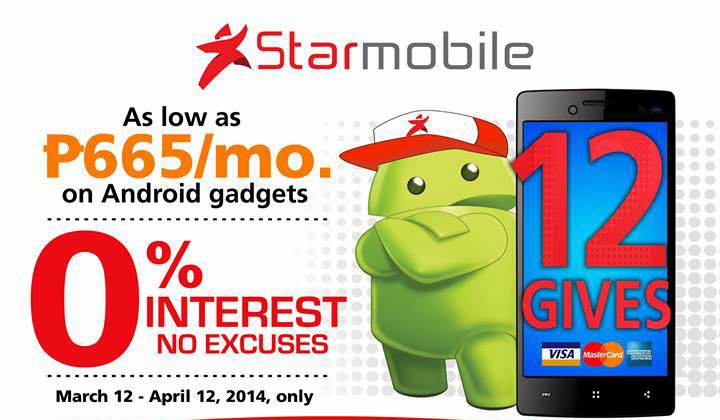 Starmobile Android: 12 gives for P665 per Month with 0% Interest