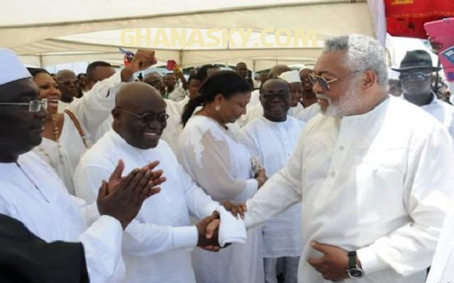 NDC boys chased Former President Jerry John Rawlings