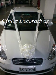 Cintas decorativas decoraci n con mo o para autos de novios for Cuanto sale hacer una pileta de material 2016