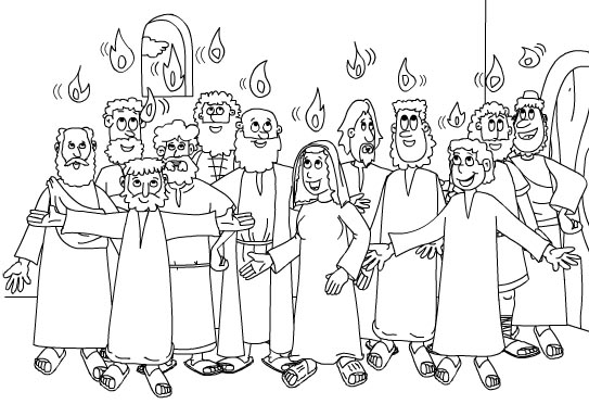DAY OF PENTECOST COLORING PAGE « Free Coloring Pages