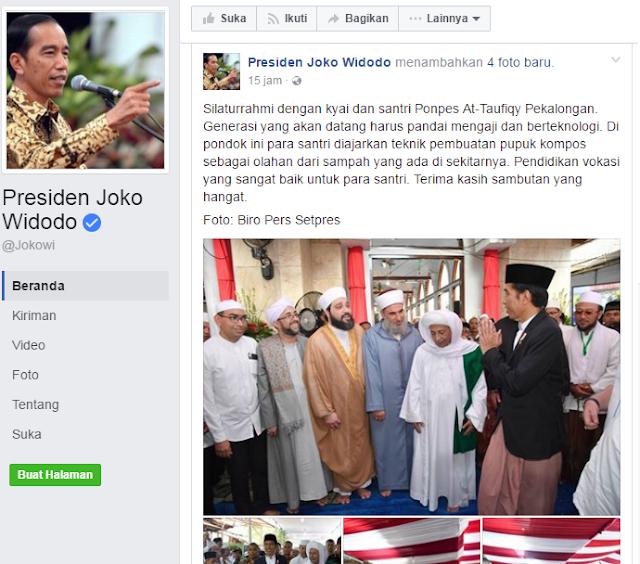 Waduh... Akun Facebook Resmi Jokowi Buat Berita Hoax. Menkominfo Berani Blokir?