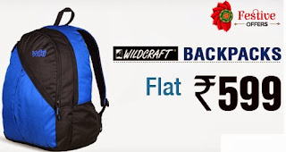 Wildcraft Backpacks worth Rs.895 for Rs.599 at Snapdeal