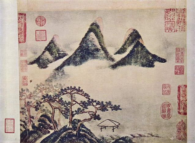Mi Fu: Montañas y pinos en primavera