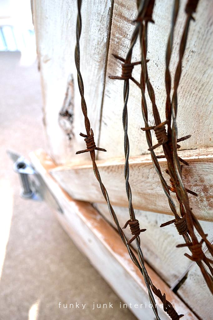 Junky fall mantel with... barbed wire?!? - Funky Junk InteriorsFunky ...