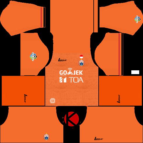 7d4127d59f0 Persija Jakarta Kits 2017/2018 - Dream League Soccer - Kuchalana
