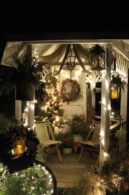 garden themed Christmas decor