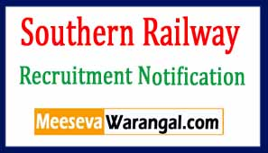 Southern Railway Recruitment Notification 2017