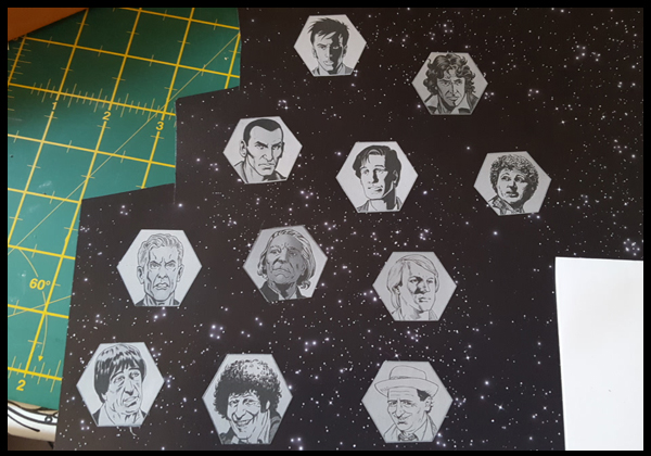 12 Dr Who faces for my new clock