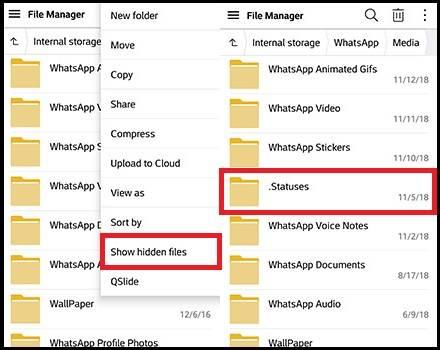 Temukan Folder Statuses