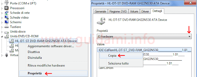 Gestione dispositivi Windows vedere ID hardware dispositivo