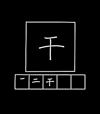 kanji to dry