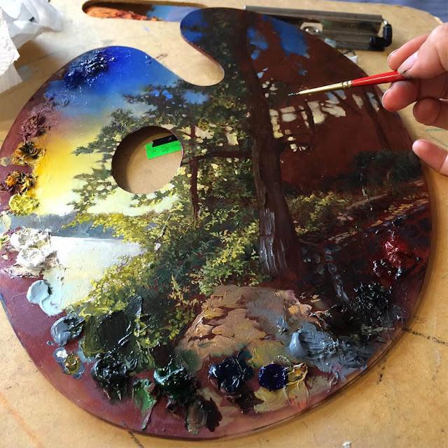 Pintores estão transformando suas paletas em obras de arte