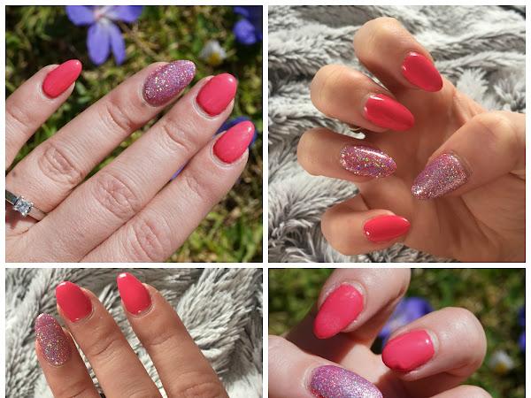 NOTD: Summer Pink & Glitter